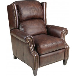 Baker Brown Leather Recliner