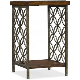 Medium Wood Square Accent Table