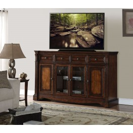 "Parliament 72"" Brown TV Console"