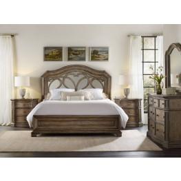 Solana Brown Mirrored Panel Bedroom Set