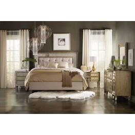 Sanctuary Silver and Beige Upholstered Platform Bedroom Set