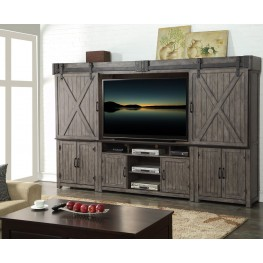 Storehouse Gray Entertainment Wall Unit