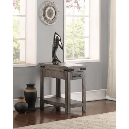 Storehouse Gray Drawer Chairside Table