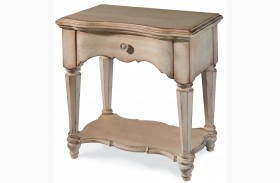 Belmar Antique Linen Open Nightstand