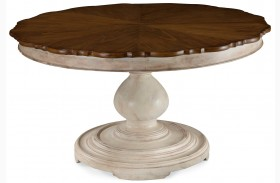 Belmar Antique Linen Round Dining Table