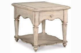 Belmar Antique Linen Drawer End Table