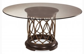 Intrigue Round Dining Table W/ Glass Top