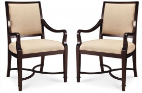 Intrigue Upholstered Arm Chair Set of 2