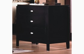 Luna Black Cherry 3 Drawer Nightstand