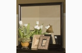 Belle Rose Black Cherry Landscape Mirror
