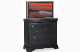 Belle Rose Black Cherry 6 Drawer Media Chest