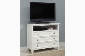 Tamarack White Media Chest