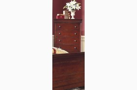 Versaille Bordeaux 5 Drawer Lift Top Chest