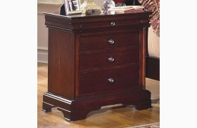 Versaille Bordeaux 4 Drawer Nightstand