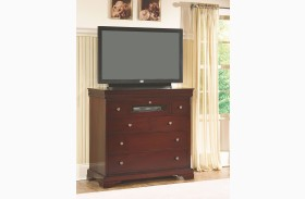 Versaille Bordeaux 6 Drawer Media Console