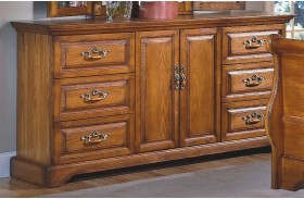 Honey Creek Caramel 6 Drawer Dresser