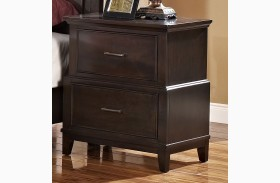 Highland Park Distressed Walnut Nightstand