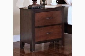 Bishop African Chestnut /Ginger Nightstand