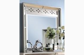Stefano Silver Mirror