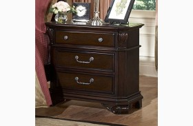 Emilie Tudor Brown 3 Drawer Nightstand