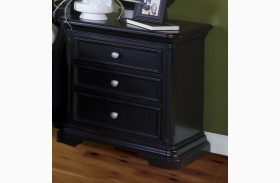 Maryhill Rubbed Black 3 Drawer Nightstand