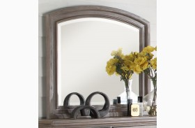 Allegra Pewter Mirror