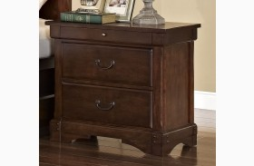 Madera African Chestnut 3 Drawer Nightstand