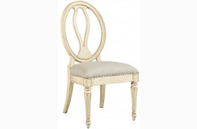 European Cottage Vintage White Side Chair