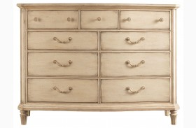 European Cottage Vintage White Dressing Chest