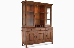 Urban Craftsmen Brown Buffet With Hutch