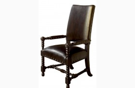 Kingstown Rich Tamarind Edwards Arm Chair
