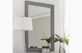 Transitional Estonian Grey Landscape Mirror