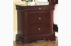 Versaille Bordeaux Youth 3 Drawer Nightstand