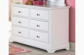 Bayfront White 6 Drawer Youth Dresser