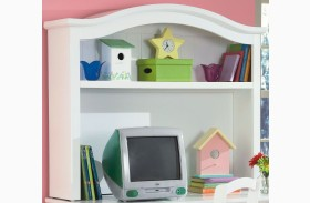 Bayfront White Desk Hutch