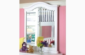 Bayfront White Vertical Mirror