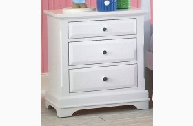 Bayfront White 3 Drawer Nightstand
