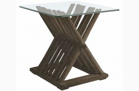 Coastal Living Resort Channel Marker Driftwood Flats End Table