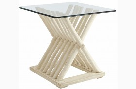 Coastal Living Resort Sail Cloth Driftwood Flats End Table