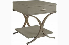Coastal Living Resort Morning Fog Windward Dune End Table