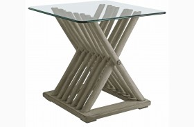 Coastal Living Resort Morning Fog Driftwood Flats End Table