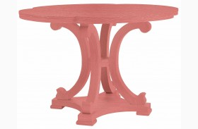 Coastal Living Resort Melon Seascape Round Dining Table