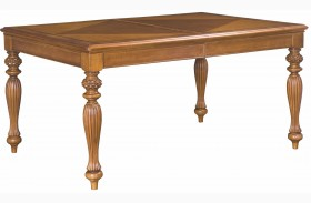 Grand Isle Amber Extendable Rectangular Leg Dining Table