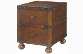 Hidden Treasures 2 Drawer Trunk End Table