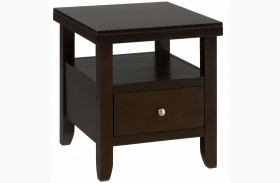 Marlon Wenge End Table