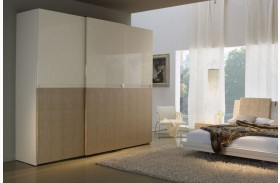 Diamond Ivory Sliding Door Wardrobe (2 Doors)