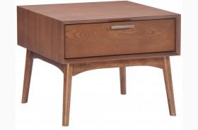 Design District Walnut Side Table