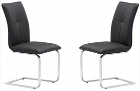 Anjou Black Dining Chair Set of 2
