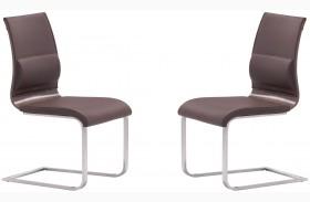 Roxboro Brown & Walnut Dining Chair Set of 2