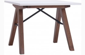 Saints Walnut & White Side Table